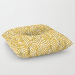 Boho Mudcloth Pattern, Summer Yellow Floor Pillow