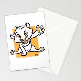 Little Animals - The Lion Cub Stationery Cards