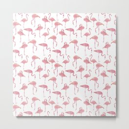 Flock Of Flamingos Metal Print