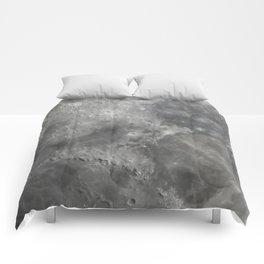 Moon closeup Comforters
