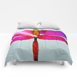 Vibrant Dragonfly Comforters