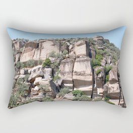 Unusual Rock Formations Near Cine Rectangular Pillow