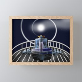 Moon Fountain Framed Mini Art Print
