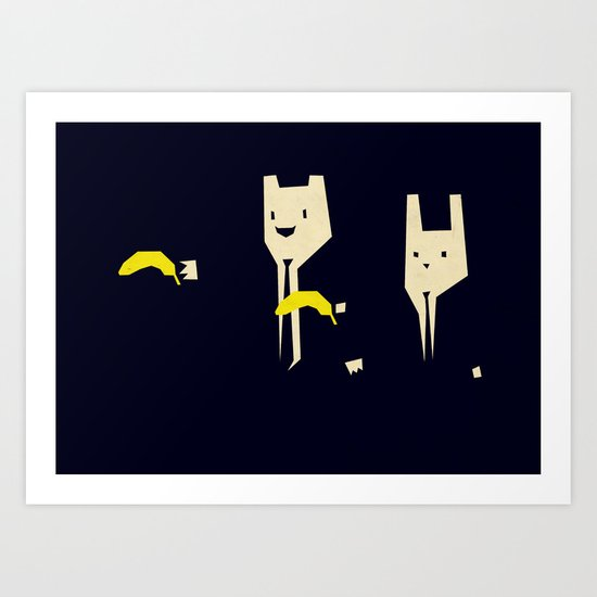 Pulp banana Art Print