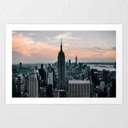 The Empire State Building New York Skyline Art Print