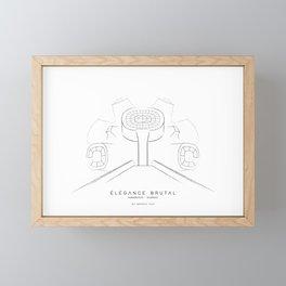 Élégance Brutal - Makedonium Krushevo Framed Mini Art Print