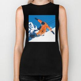 Snowboard Orange Biker Tank