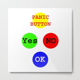 Yes No Buttons jGibney The MUSEUM Society Gifts Metal Print