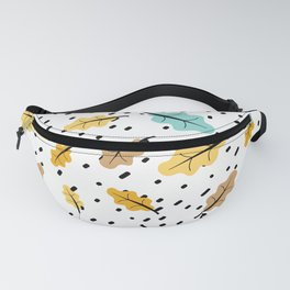 cute pattern illustration with colorful leaves Fanny Pack