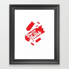 Da Bomb Framed Art Print