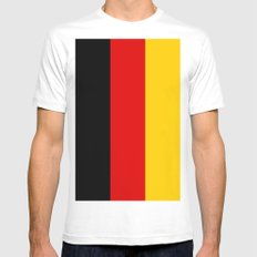 Flag of Germany White MEDIUM Mens Fitted Tee