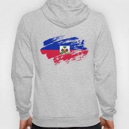 Haiti Flag Tee Shirt Hoody