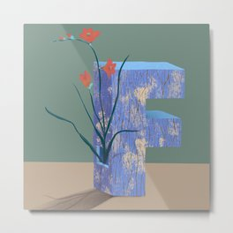 Vase F Freesia Metal Print