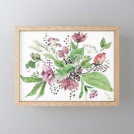 Floral festival Framed Mini Art Print