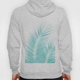 Soft Turquoise Palm Leaves Dream - Cali Summer Vibes #1 #tropical #decor #art #society6 Hoody