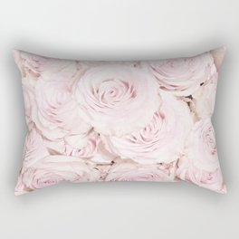 Roses have thorns - Floral Flower Pink Rose Flowers Rectangular Pillow