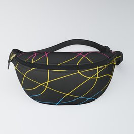 Abstract Threads – Pansexual Pride Flag Fanny Pack