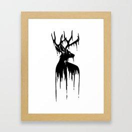 Painted Stag V.2 Framed Art Print
