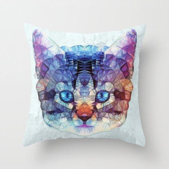abstract kitten Throw Pillow