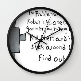 Robot Problems Wall Clock