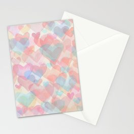 Floating Hearts Stationery Cards