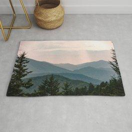 Smoky Mountain Pastel Sunset Rug