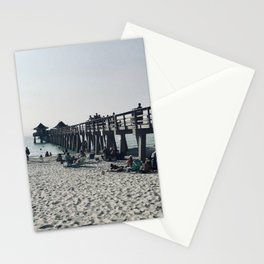 """""""Pier in Naples, Florida"""" Photography by Willowcatdesigns Stationery Cards"""