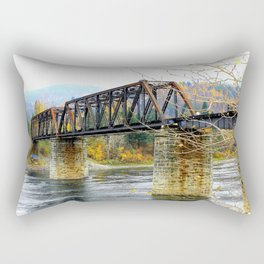 Train Bridge Rectangular Pillow