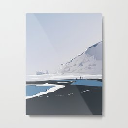Vik Reynisfjara Black Sand Beach, Iceland Metal Print