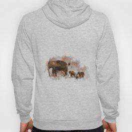 Elephant and Calves Hoody