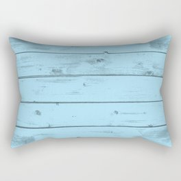 Blue Wood Texture Rectangular Pillow