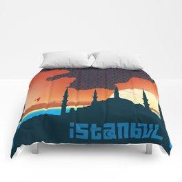 Istanbul Graphic - Square Comforters