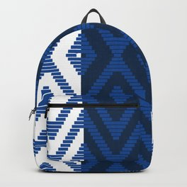 Rattan in Blue Backpack