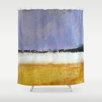 rothko Shower Curtains featuring Mark Rothko Interpretation Acrylics On Paper by a collection. James Peart