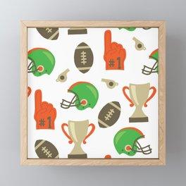 American Football pattern Framed Mini Art Print
