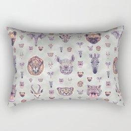 African Mammals Poster and Pattern Rectangular Pillow