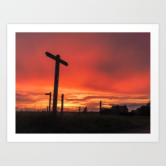 Signs for Sunset Art Print