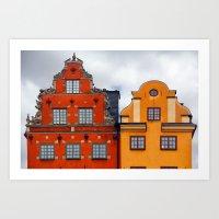 Stockholm. Colorful Houses in Gamla Stan Art Print