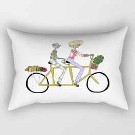 BIKE LOVE - tandem ride Rectangular Pillow