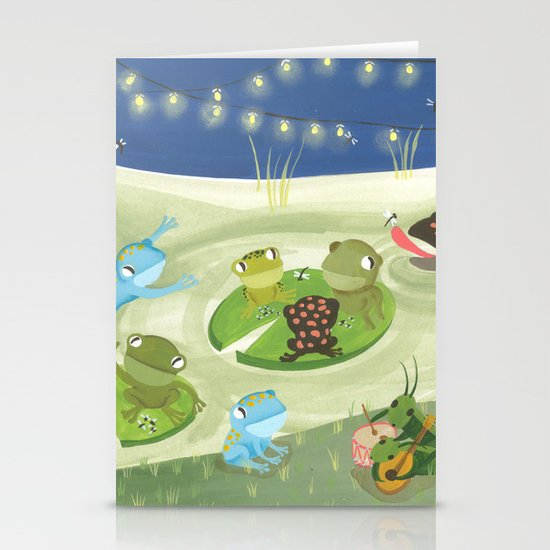 Party at night Stationery Cards
