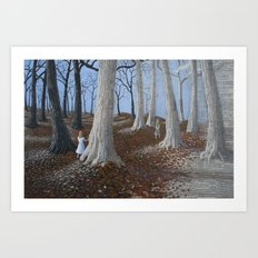 entering a paper world Art Print