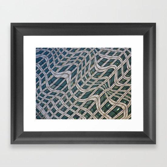 Canary Wharf Windows Framed Art Print