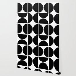 Mid Century Modern Black Square Wallpaper