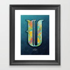 U is for Unique Framed Art Print