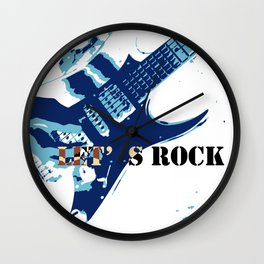 Go Rockers Wall Clock