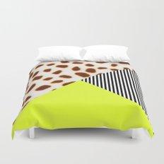 Cheetah Leo stripe and neon Duvet Cover