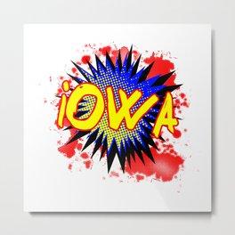 Iowa Comic Exclamation Metal Print