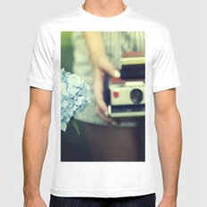color Mens Fitted Tee MEDIUM White