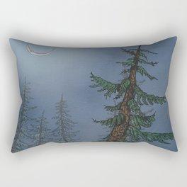 Forest Moonlight Rectangular Pillow