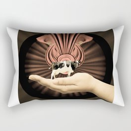 Cow in the Hand Rectangular Pillow
